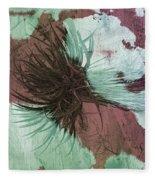 Yucca Abstract Sage And Mauve Fleece Blanket