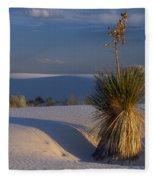 Yucca At White Sands Fleece Blanket