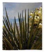 Yucca Blooms Fleece Blanket