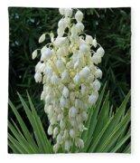 Yucca Blossoms Fleece Blanket
