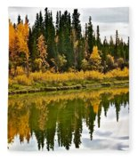 Yukon Autumn Fleece Blanket