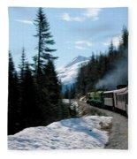 Yukon Railroad Fleece Blanket