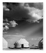 Yurts Fleece Blanket
