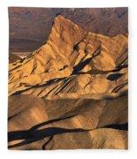Zabriske Point Sunrise Fleece Blanket