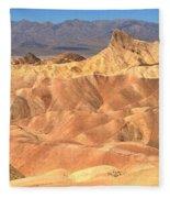 Zabriskie Point Medium Panorama Fleece Blanket