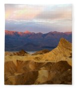 Zabriskie Point Sunrise Death Valley Fleece Blanket