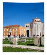 Zadar Historic Architecture Fleece Blanket