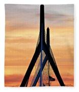 Zakim Bridge In Boston Fleece Blanket