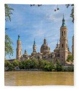 Zaragoza, Zaragoza Province, Aragon Fleece Blanket