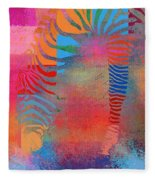 Zebra Art - Mtc077b Fleece Blanket