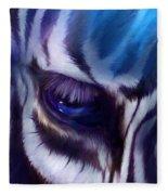 Zebra Blue Fleece Blanket