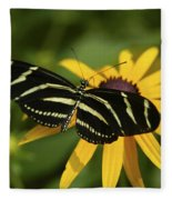 Zebra Butterfly Fleece Blanket