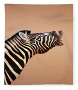 Zebra Calling Fleece Blanket