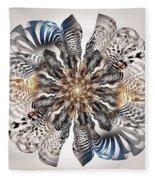 Zebra Flower Fleece Blanket