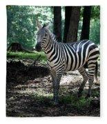 Zebra Forest 2 Fleece Blanket