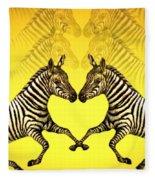 Zebra Heart Fleece Blanket