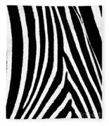 Zebra Hide Fleece Blanket