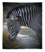 Zebra I Fleece Blanket