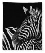 Zebra No. 3 Fleece Blanket