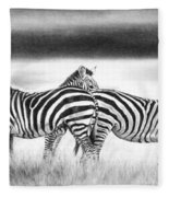 Zebra Panarama Fleece Blanket