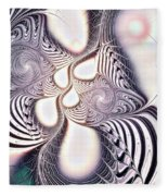 Zebra Phantasm Fleece Blanket