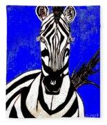 Zebra Portrait Fleece Blanket