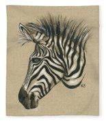 Zebra Profile Fleece Blanket