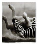 Zebra Rolling Fleece Blanket