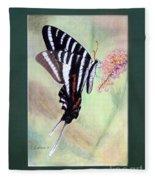 Zebra Swallowtail Butterfly By George Wood Fleece Blanket