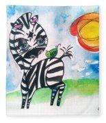 Zebra Zee  Fleece Blanket