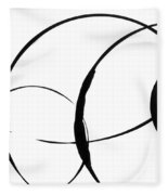 Zen Circles 3 Fleece Blanket