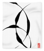 Zen Circles 5 Fleece Blanket
