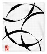 Zen Circles Fleece Blanket