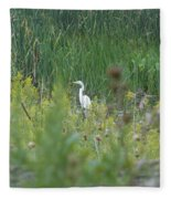 Zen Egret Fleece Blanket