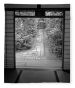 Zen Garden Walkway Fleece Blanket