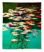 Zen Garden Water Lilies Pond Serenity And Beauty Lily Pads At The Lake Waterscene Art Carole Spandau Fleece Blanket
