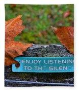 Zen Inner Peace Fleece Blanket