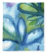 Zen Leaves Fleece Blanket