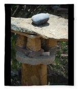 Zen Rocks In Balance Fleece Blanket