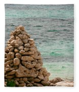Zen Rocks In Paradise Fleece Blanket