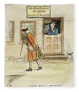 Zenger And Bradford, 1730s Fleece Blanket