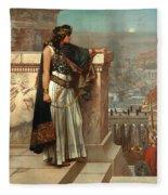 Zenobia's Last Look On Palmyra Fleece Blanket