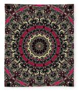 Zentangle No. 7 Kaleidoscope Fleece Blanket