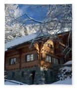 Zermatt Chalet Fleece Blanket