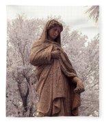 Ziba King Memorial Statue Front View Florida Usa Near Infrared Se Fleece Blanket