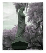 Ziba King Memorial Statue Side View Florida Usa Near Infrared Gr Fleece Blanket