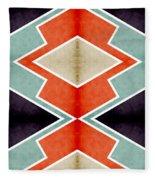 Zig Zag Angles 3 Fleece Blanket