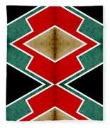 Zig Zag Angles 4 Fleece Blanket
