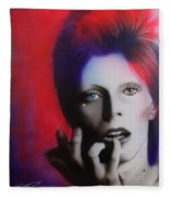 Ziggy Stardust Fleece Blanket
