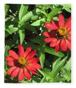 Zinnia Gardens-1 Fleece Blanket